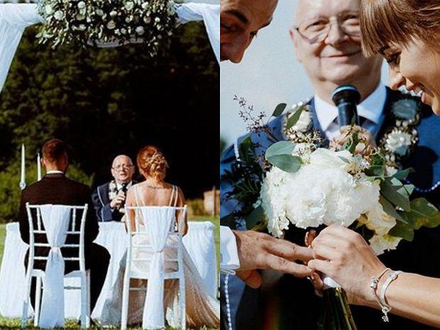 """Konrad Kulczyński powiedział sakramentalne """"tak"""". Jego wybranką jest piękna Monika. Ślub mieli jak z bajki."""