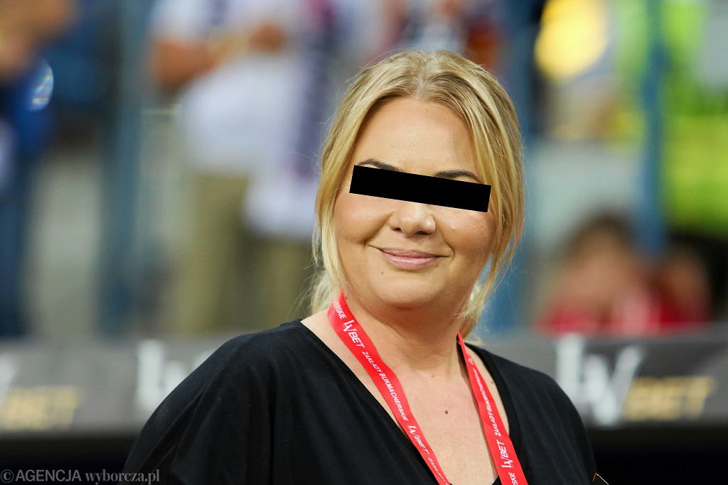Marzena S., była prezes Wisły Kraków, podejrzana o udział w zorganizowanej grupie przestępczej. Na zdjęciu: podczas meczu Wisła Kraków - Wisła Płock, 10 sierpnia 2018