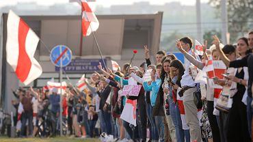 21.08.2020, kolejny dzień manifestacji w Mińsku