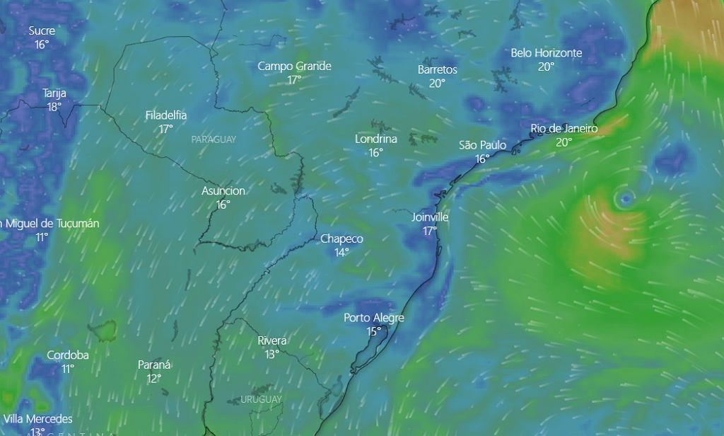 Pogoda w Brazylii - 1 lipca 2020