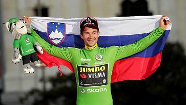 Uśmiechnięty Primoż Roglić to rzadkość. Ale właśnie wygrał Vuelta a Espana, więc ma powody do radości!