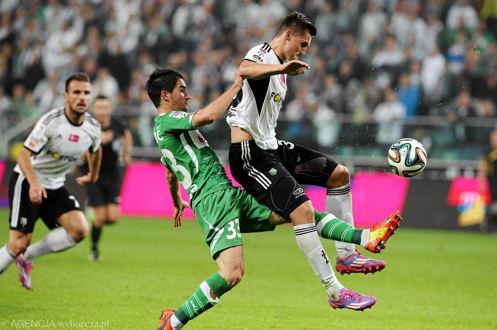 Legia - Lechia 1:0. Z lewej Nikola Leković