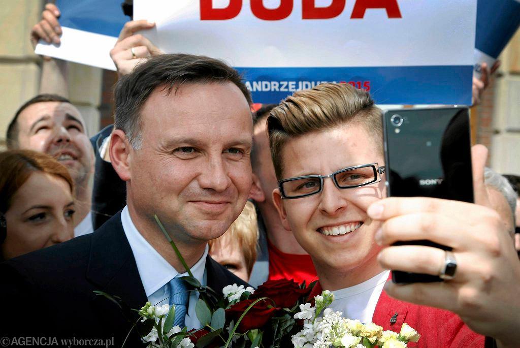 Spotkanie z Andrzejem Dudą w Dąbrowie Górniczej