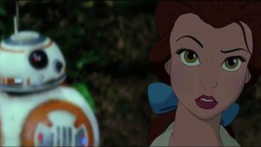 """Kadr z trailera łączącego """"Gwiezdne wojny"""" z innymi filmami Disneya"""