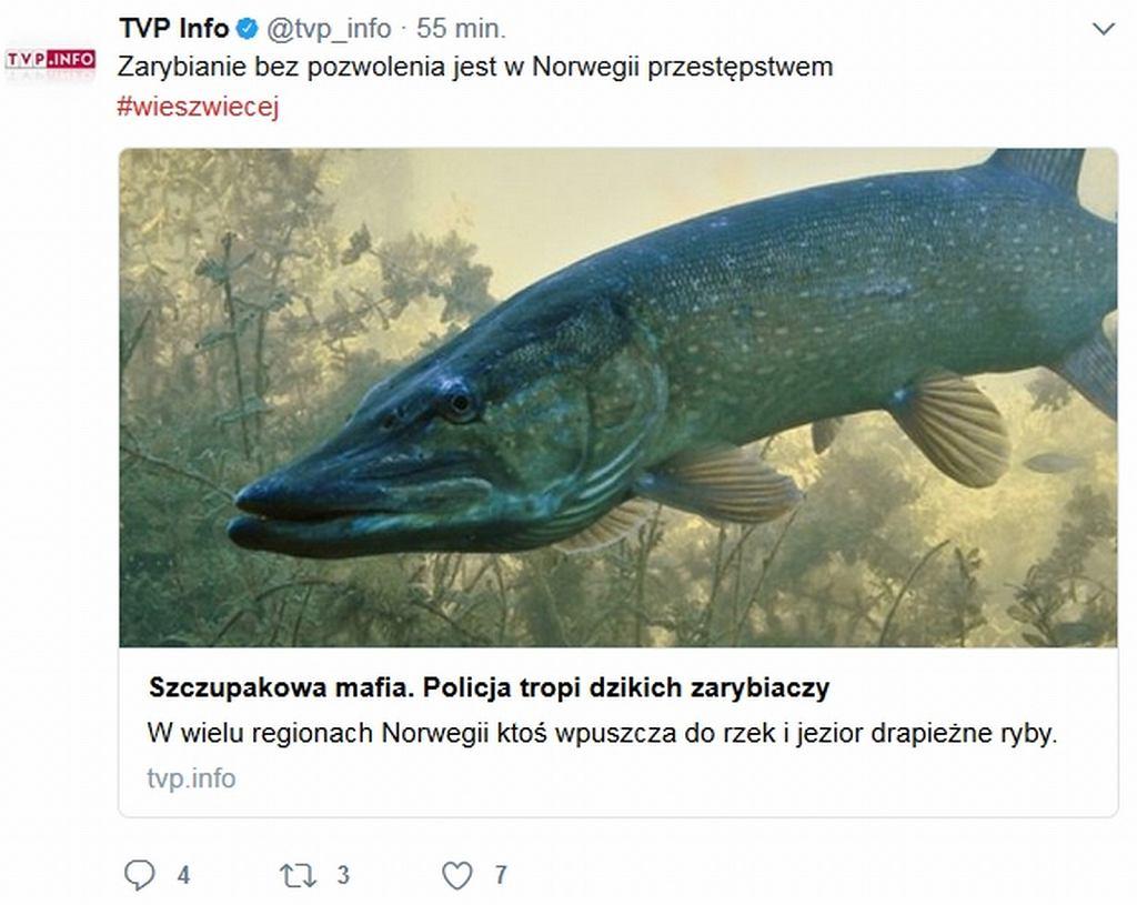 TVP Info na Twitterze po prezydenckim veto ||