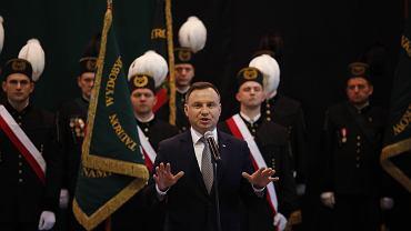 Wizyta prezydenta Andrzeja Dudy w kopalni w Brzeszczach