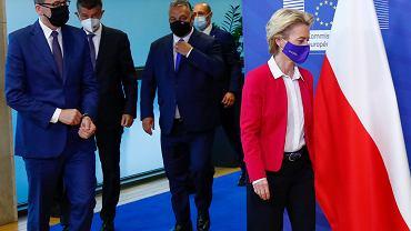 Ursula von der Leyen i premierzy w Brukseli