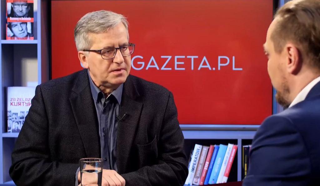 Bronisław Komorowski w Gazeta.pl