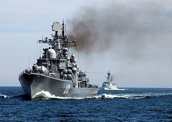 Niszczyciel Nastojcziwyj rosyjskiej Floty Bałtyckiej - zdjęcie ilustracyjne