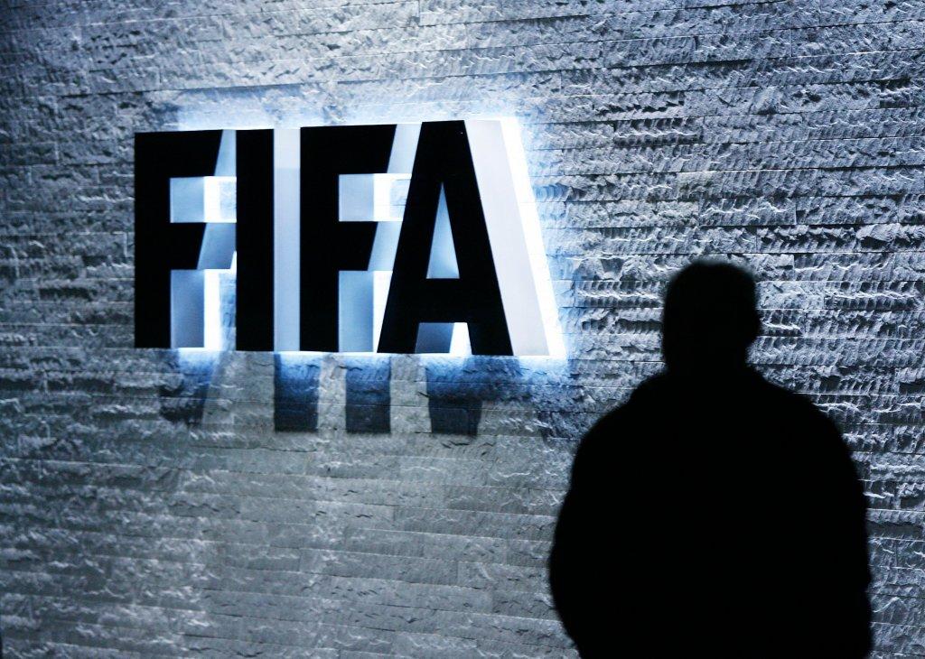 Logo FIFA w siedzibie organizacji w Zurychu