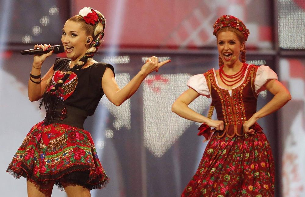 Cleo podczas występu w półfinale Eurowizji