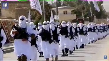 Afganistan. Specjalna jednostka policji maszeruje przez miasto Qalat w prowincji Zabul w Afganistanie.
