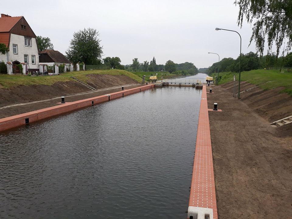 Etap pierwszy remontu śluzy Opatowice zakończył się pod koniec kwietnia 2018 roku