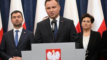 dBriefing prezydenta Andrzeja Dudy po spotkaniu w sprawie smierci prezydenta Gdanska Pawla Adamowicza