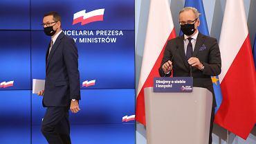 Konferencja prasowa premiera i ministra zdrowia. Warszawa, 10 października 2020