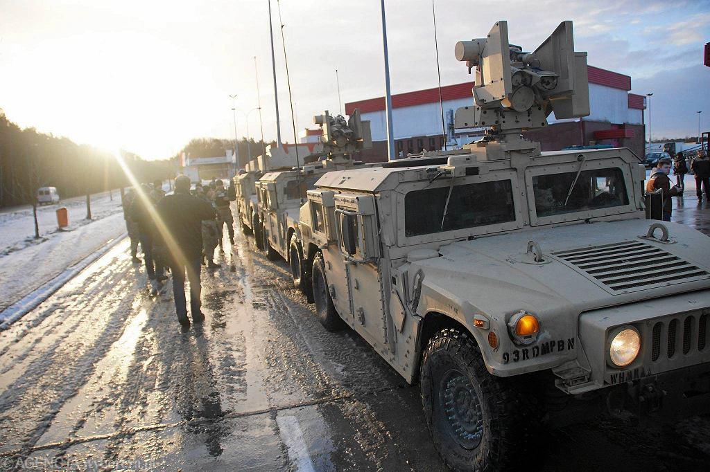 Żagań, 12 stycznia 2017 r. Powitanie żołnierzy amerykańskiej Pancernej Brygadowej Grupy Bojowej (zdjęcie ilustracyjne)