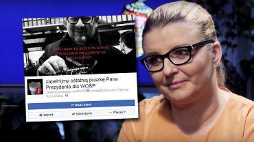 Patrycja Krzymińska zorganizowała zbiórkę pod hasłem: Zapełnijmy ostatnią puszkę Pana Prezydenta dla WOŚP
