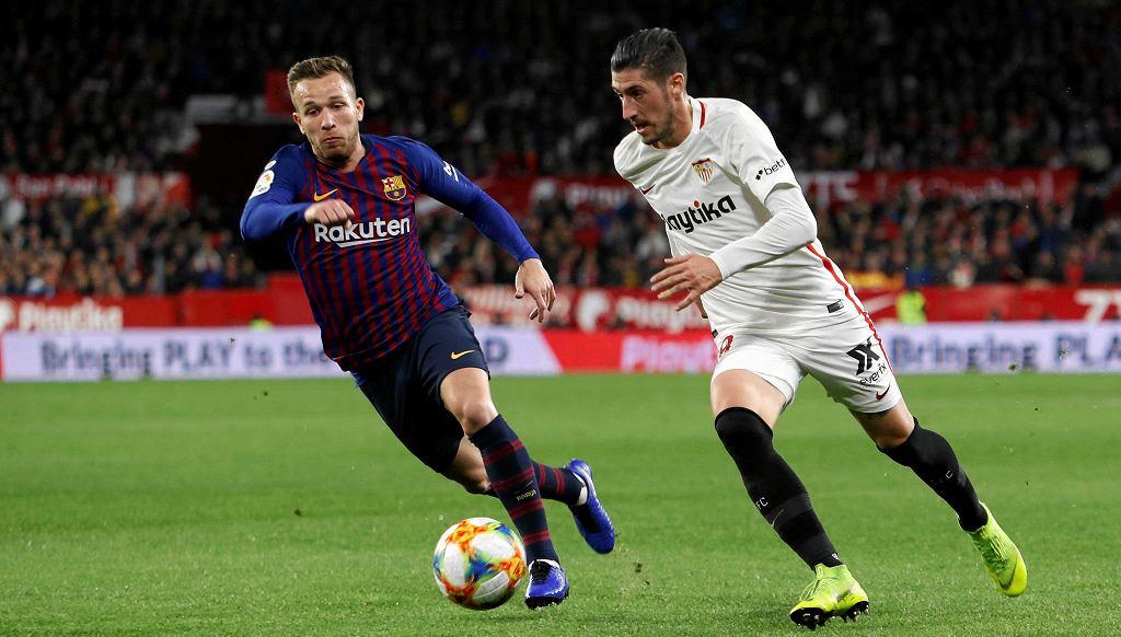 Arthur w barwach Barcelony w meczu przeciw Sevilli