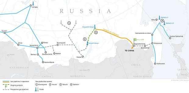 Gazociąg 'Siła Syberii'