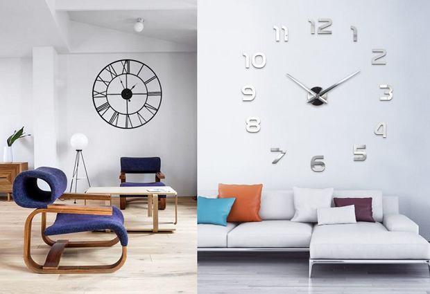 Duże zegary ścienne - efektowny dodatek do wnętrza