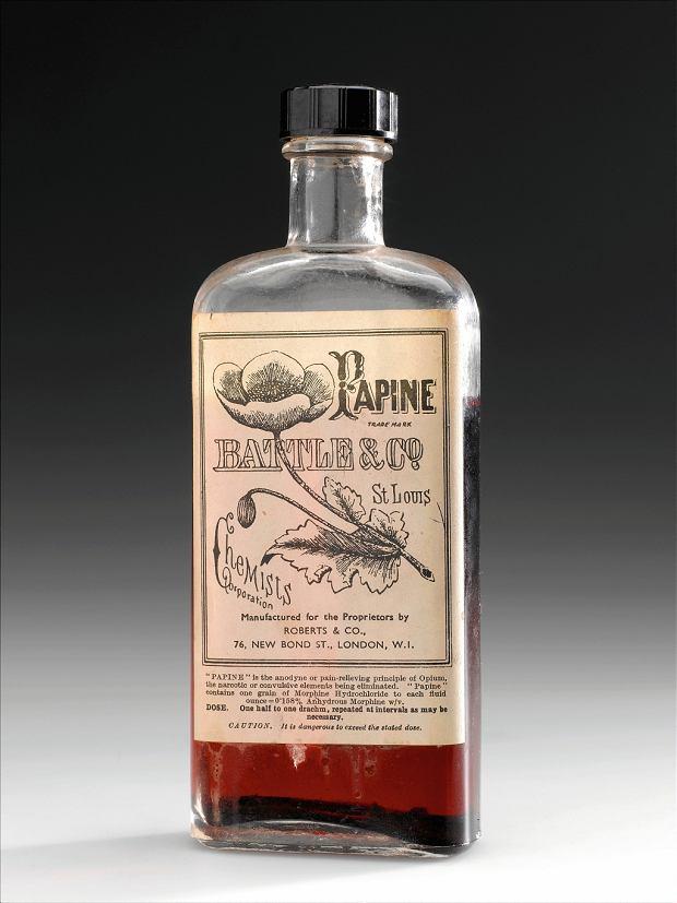 'Papine' - jak zapewniał producent: skuteczny, przeciwbólowy lek bez efektów ubocznych (1890 rok)