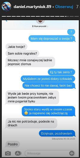 Screen InstaStories Daniela Martyniuka