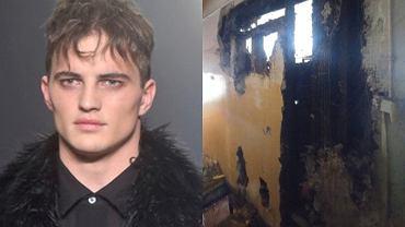 Patryk Grudowicz / Mieszkanie Patryka Grudowicza po pożarze