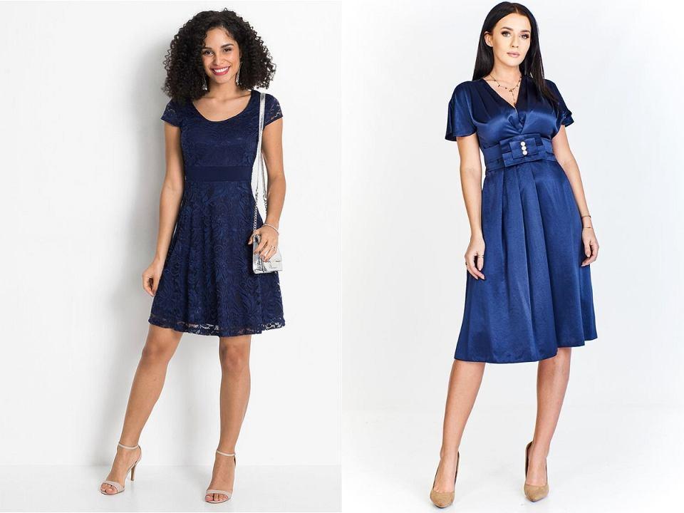 Granatowa sukienka elegancka