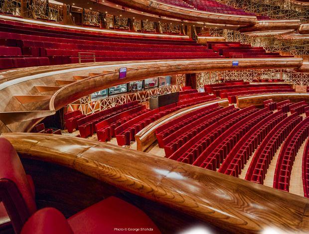 Imponująca sala koncertowa w operze w Dubaju