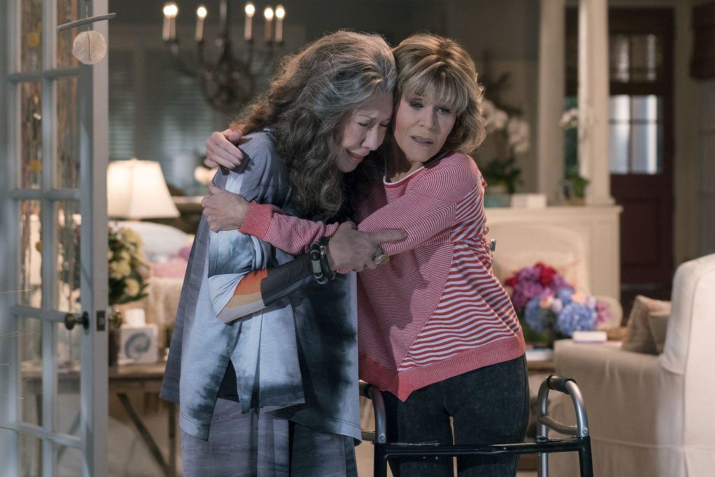 Jane Fonda z Lily Tomlin w serialu 'Grace i Frankie', od 2015 r.