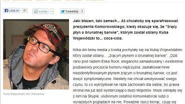 Artykuł na stronie Fronda.pl