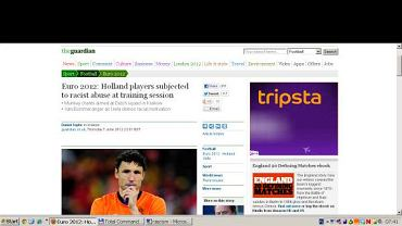 Zrzut ekranu ze strony The Guardian
