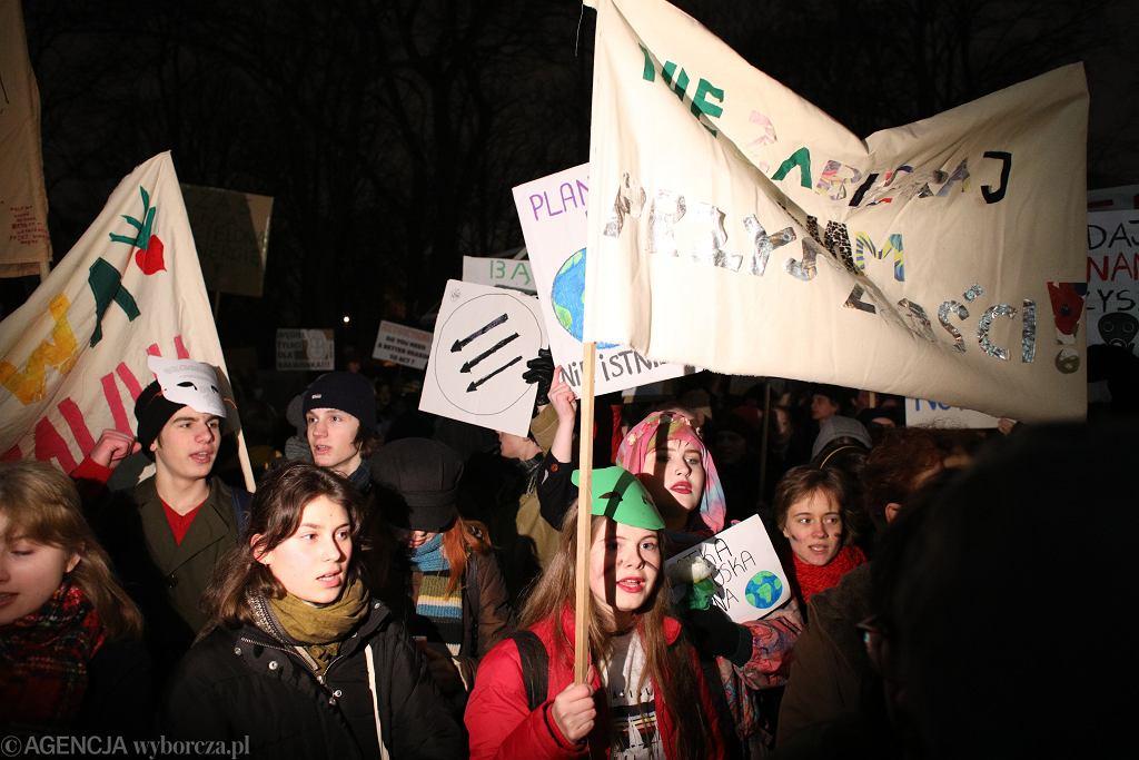 Strajk dla Ziemi w Warszawie