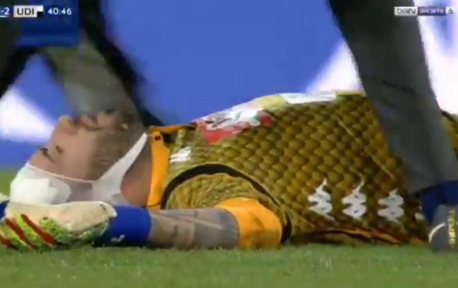 David Ospina doznał urazu głowy podczas meczu Napoli - Udinese