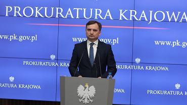 Prokuratura Krajowa - Zbigniew Ziobro na konferencji prasowej