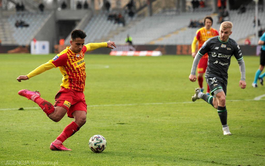 Rodrigo Zalazar podczas meczu Korona Kielce - Lechia Gdańsk
