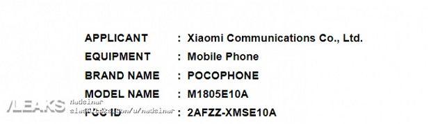 Pocophone w badzie FCC
