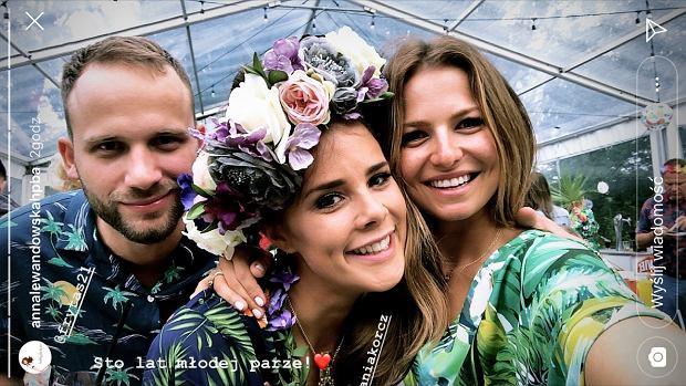 Anna Lewandowska para młoda na poprawinach