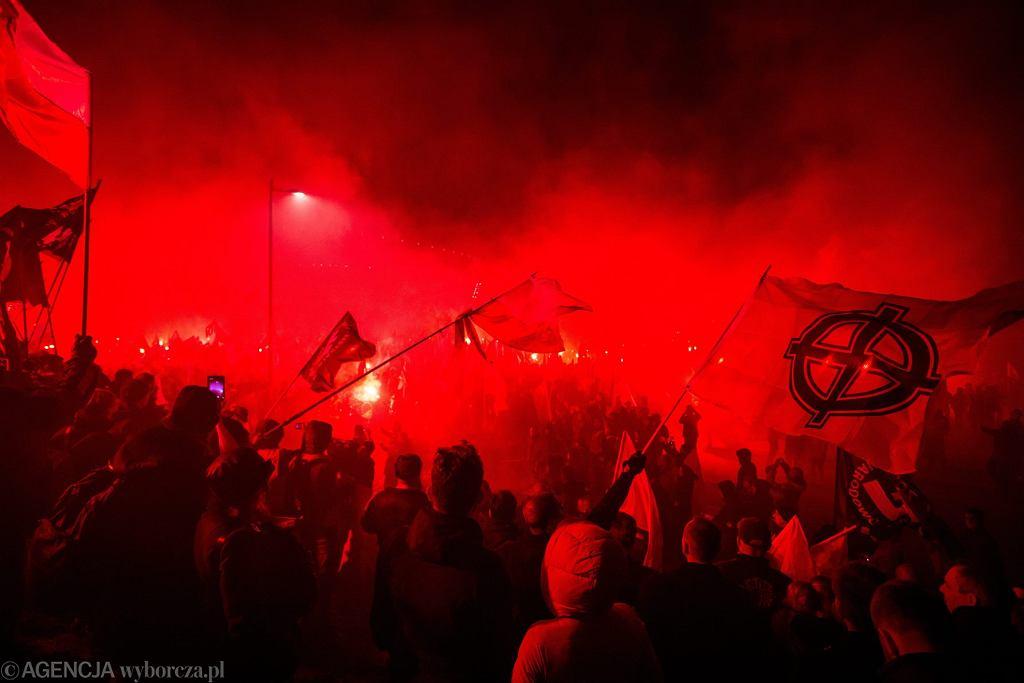 11 listopada 2017 w Warszawie. ' Marsz Niepodległości ' organizowany przez środowiska prawicowe.