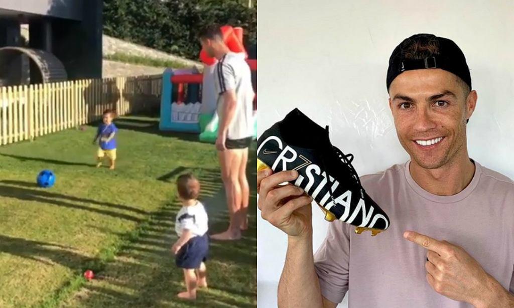 2-letni syn Cristiano Ronaldo lepiej gra w piłkę nożną niż chodzi [WIDEO]