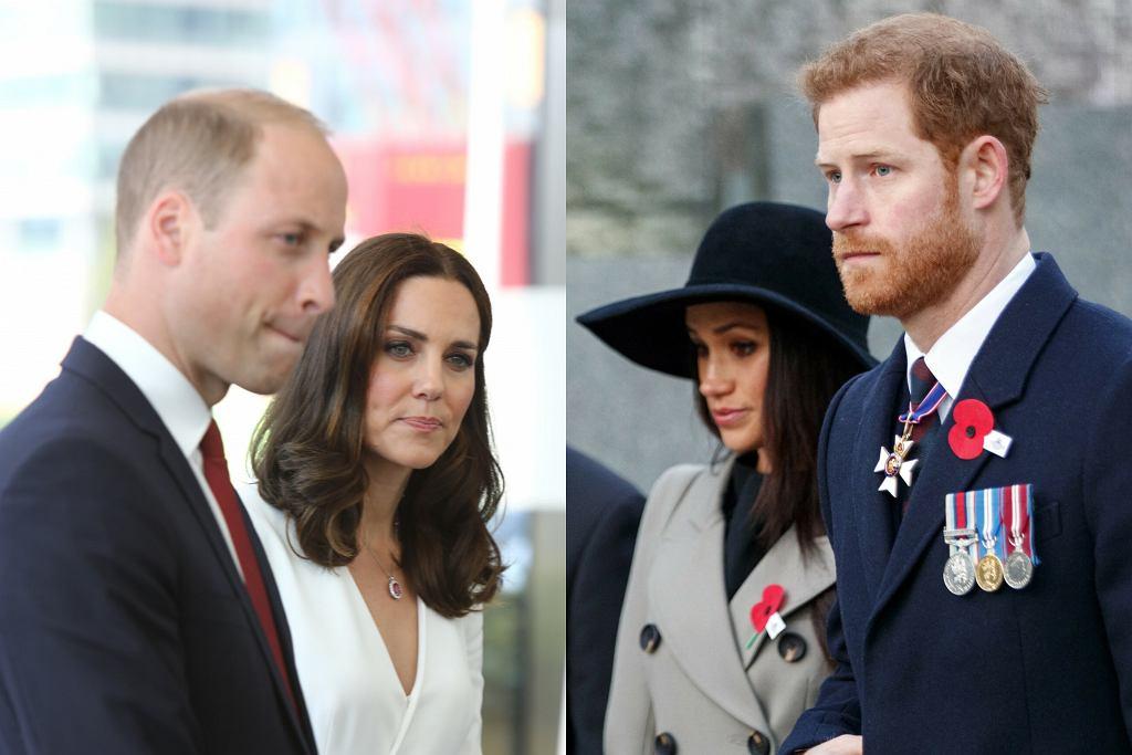 Książę William i księżna Kate oraz książę Harry i Meghan Markle