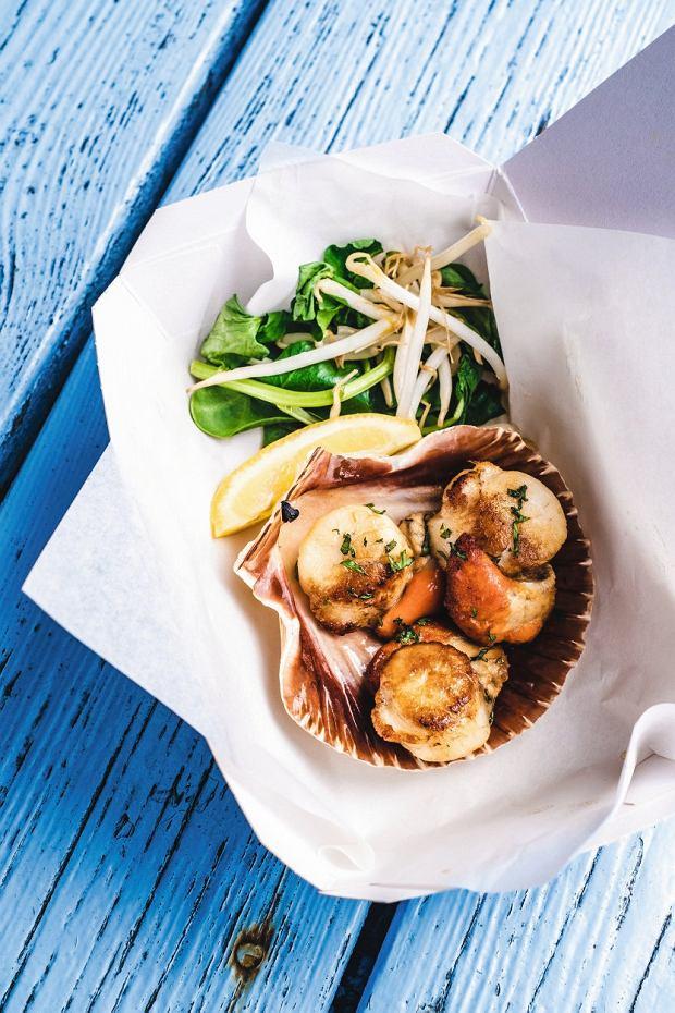 Kornwalia, grillowane przegrzebki zeStein's Fish & Chips