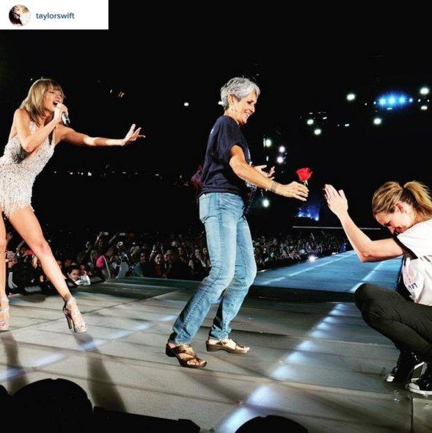 Taylor Swift, Joan Baez i Julia Roberts