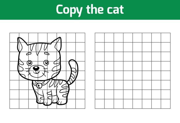 Jak narysować kota? Skopiuj rysunek, kratka po kratce