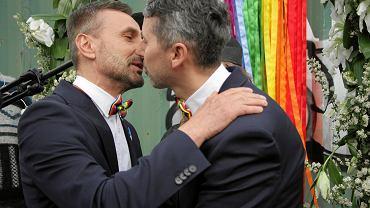 Ślub humanistyczny Michała Niepielskiego i Wojciecha Piątkowskiego
