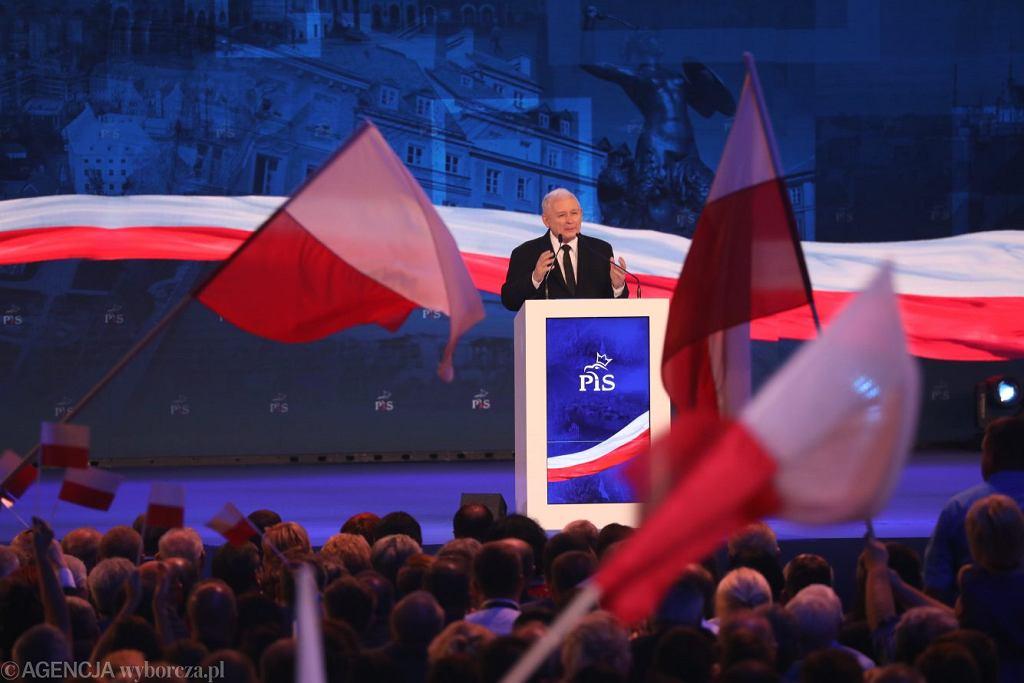 Jarosław Kaczyński na Konwencji Samorządowej PiS-u.