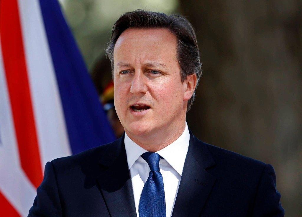 David Cameron podczas konferencji w Kabulu