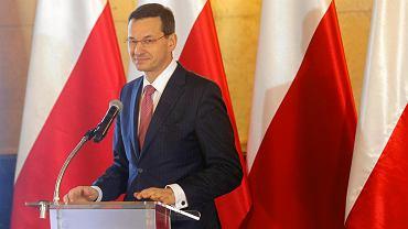 Premier Mateusz Morawiecki podczas prezentacji Programu dla Śląska