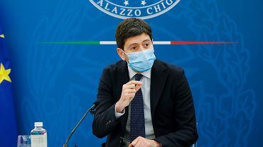 Minister zdrowia Włoch Roberto Speranza.