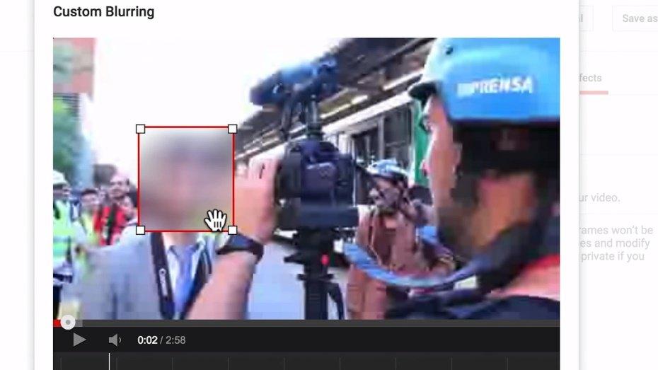 YouTube pozwala rozmyć dowolny obszar filmu